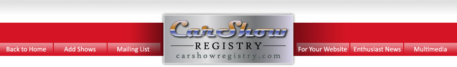 Car Show Registry Home Page